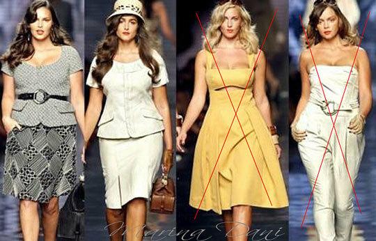 Заповеди одежды для полных женщин