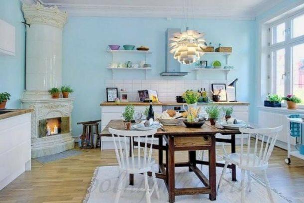 Дизайн интерьера кухни с скандинавском стиле