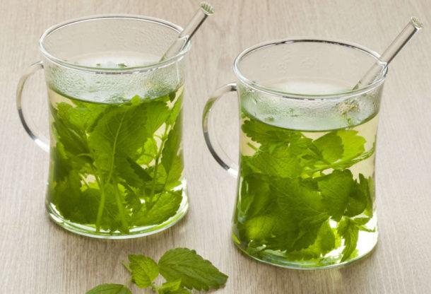 Чай с мятой и мелисссой