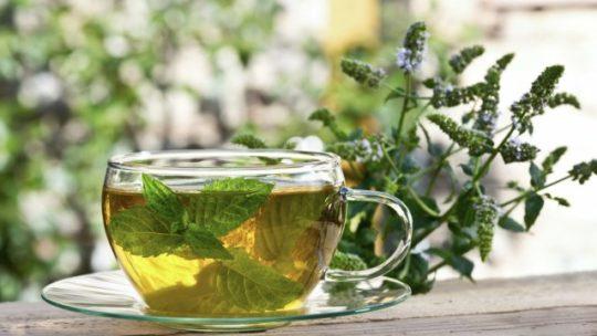 Шипучий освежающий чай с мятой