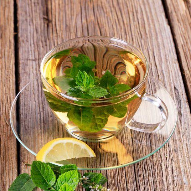 Полезные напитки. Чай с мятой