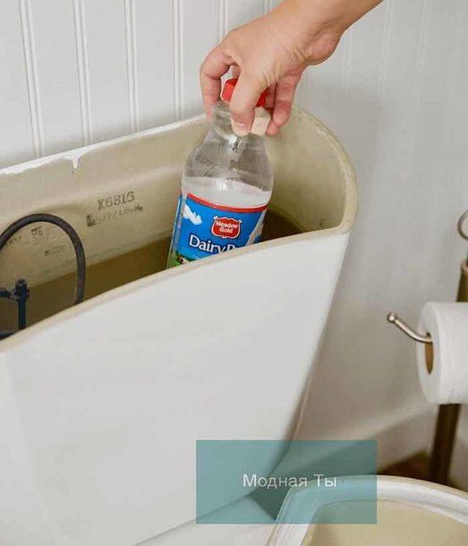 Пластиковая бутылка в бачке унитаза как экономия воды и освежитель воздуха