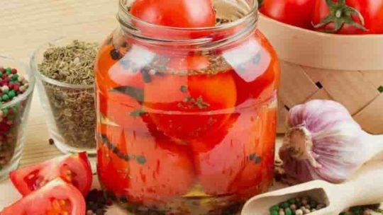 Кисло-сладкие помидоры без уксуса на зиму