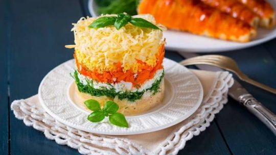 Рецепт салата Французский сад