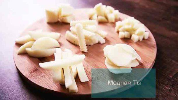 Способы нарезки картофеля для приготовления блюд. Модная Ты